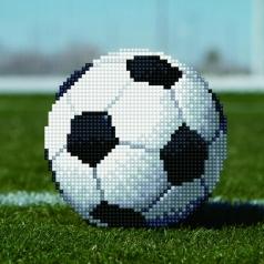 soccer ball - diamond dotz beginner 50491 20,32 x 20,32cm