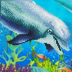 dolphin - diamond dotz beginner 50492 20,32 x 20,32cm