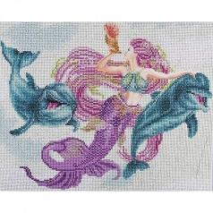mermaid and friends - diamond dotz advanced 51149 47x37cm