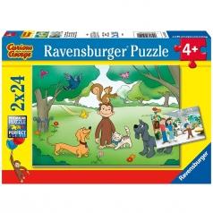 george - puzzle 2x24 pezzi