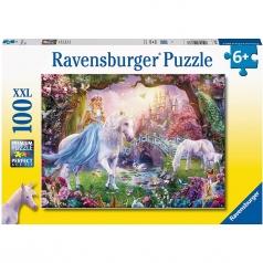 unicorno magico - puzzle 100 pezzi xxl
