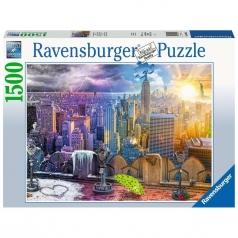 le stagioni di new york - puzzle 1500 pezzi