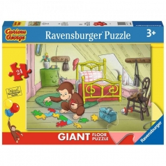 curious george giornata di puzzle - puzzle 24 pezzi pavimento
