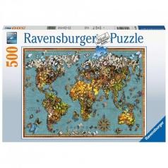 mondo di farfalle - puzzle 500 pezzi