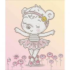 ballet bear - diamond dotz beginner dd5.057 32x32cm