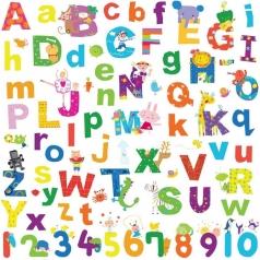 lazoo lettere alfabeto adesivi removibili da parete