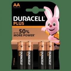 duracell plus - blister 4 batterie alcaline stilo aa