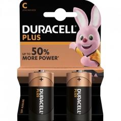 duracell plus - blister 2 batterie alcaline mezza torcia tipo c