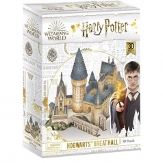 hogwarts great hall - puzzle 3d 161 pezzi