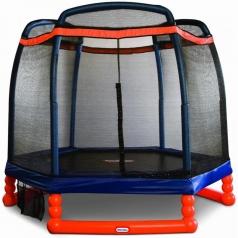 trampolino elastico con protezioni - 2 metri