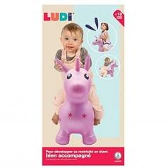 unicorno salterino rosa - gonfiabile per saltare da equilibrio
