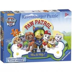 paw patrol - puzzle 24 pezzi pavimento