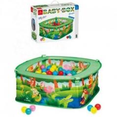 baby box giungla - box con 70 palline colorate