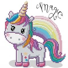magic rainbow - diamond dotz beginner dd3.033 20x20cm