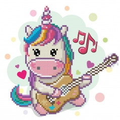 music fills my heart - diamond dotz beginner dd3.034 23x25cm