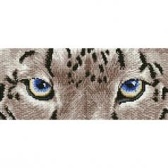 snow leopard spy - diamond dotz intermediate dd5.043 42x18cm
