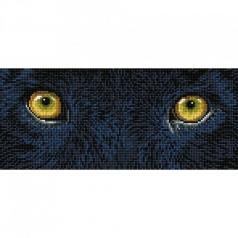 black panther spy - diamond dotz intermediate dd5.078 42x18cm