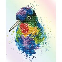 rainbow feathers - diamond dotz intermediate dd5.056 22x27cm