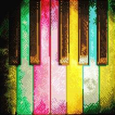 piano rainbow - diamond dotz intermediate dd5.068 30x30cm