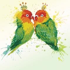 love birds - diamond dotz intermediate dd5.075 32x32cm