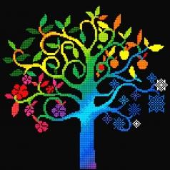 wishing tree - diamond dotz intermediate dd8.014 41x41cm