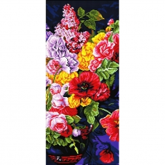 romantic bouquet - diamond dotz intermediate dd10.046 42x52cm