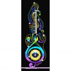 guitar icon - diamond dotz intermediate dd10.042 31x77cm