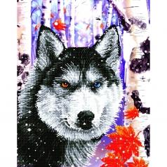 forest wolf - diamond dotz intermediate dd10.040 40x50cm