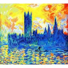 london parliament in winter apres monet - diamond dotz intermediate dd10.038 46x41cm