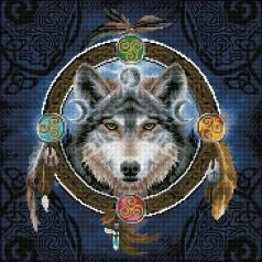 celtic wolf guide - diamond dotz intermediate dd12.049 51,5x51,5cm