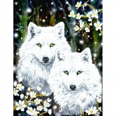 winter wolves - diamond dotz intermediate dd12.047 51x66cm