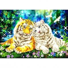 tiger smooch - diamond dotz advanced dd13.026 77x55cm