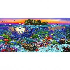 coral reef island - diamond dotz advanced dd18.001 132x65cm