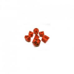 set di dadi opaco arancione nero