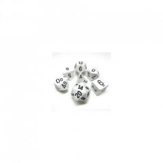 set di dadi opaco bianco nero
