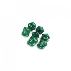 set di dadi opaco verde bianco