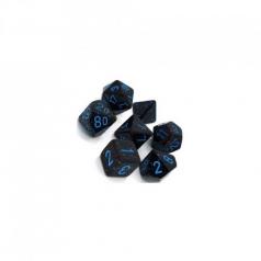 set di dadi speckled blu stelle