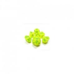 set di dadi vortex giallo elettrico verde