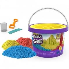 kinetic sand - secchiello con 3 colori 2,72 kg