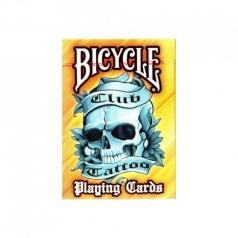 bicycle club tattoo - orange