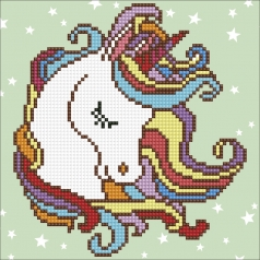 fun unicorn - diamond dotz beginner 49291 22x22cm