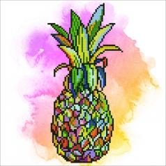 pineapple - diamond dotz intermediate 50467 30,48x30,48cm
