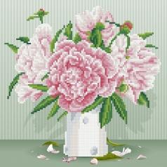 english roses - diamond dotz intermediate 49371 32x32cm