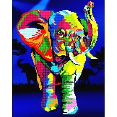 elephant - diamond dotz advanced 50457 37x47cm