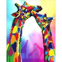 giraffe - diamond dotz advanced 50463 37x47cm