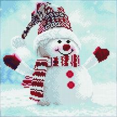 snowman - diamond dotz intermediate 51139 30,5x30,5cm