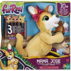 fur real - mama josie il canguro - peluche interattivo con 70 suoni e reazioni