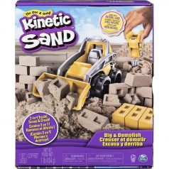 kinetic sand - cantiere con veicolo 2 in 1 454g