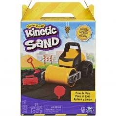 kinetic sand - set lavori stradali con rullo 227g