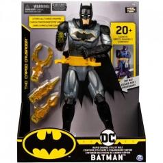 batman deluxe - personaggio 30cm con cintura ed armi intercambiabili